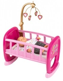 Smoby Baby Nurse Cradle with Carousel 7600220328