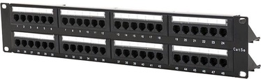 "Digitalbox Patch Panel 19"" 1U 48-port w/ Cable Management"