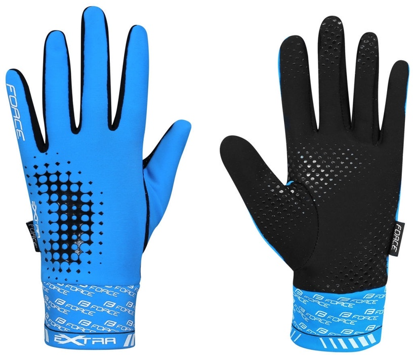 Force Extra 17 Full Gloves Blue Black XS