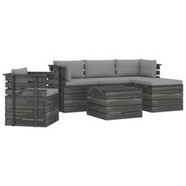 Комплект уличной мебели VLX Garden Pallet Lounge Set 3061852, серый, 1-4 места