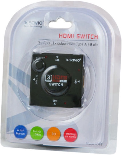 Savio CL-26 HDMI Switch