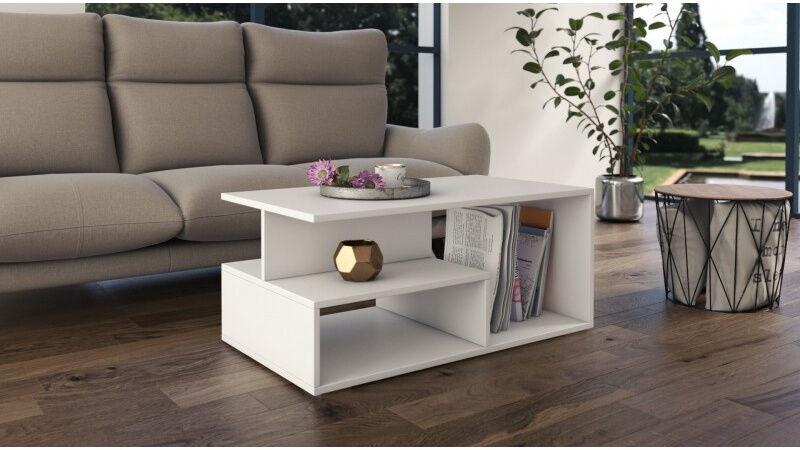 Kafijas galdiņš Top E Shop Prima, balta, 900x510x430 mm