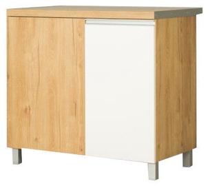 Bodzio Monia Kitchen Lower Corner Cabinet Straight Left White/Brown