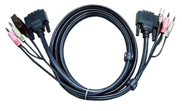 Aten Cable DVI-D / USB / 2x Audio Black 1.8m