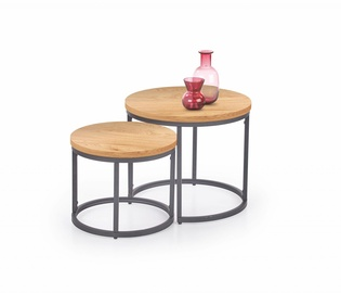 Halmar Oreo Set Of Two Coffee Tables Golden Oak