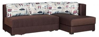 Kampinė sofa Bodzio Judyta Dark Brown/London 1, dešininė, 225 x 155 x 77 cm