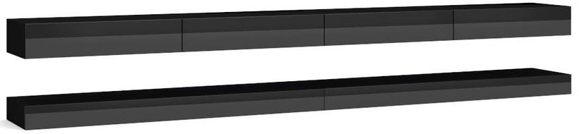 TV galds Vivaldi Meble, melna, 2800x340x450 mm