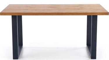 Pusdienu galds Halmar Perez Oak/Black, 1600 - 2500x900x760 mm