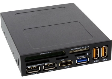 "InLine® Card Reader Front Panel 3.5"" Bay+HDMI+USB 3.0/2.0"