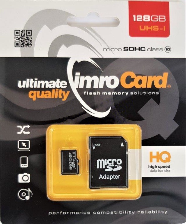 Карта памяти IMRO 10 128GB MicroSDXC Class 10 UHS-I + Adapter