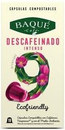 Cafe Baque Decaffeinated greitai suyrančios kavos kapsulės, 10 vnt.