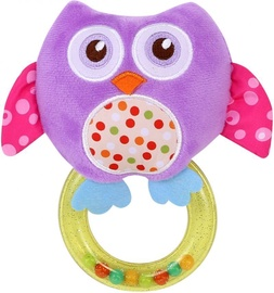 Lorelli Rattle With Ring Owl Purple