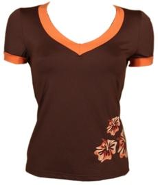 Bars Womens T-Shirt Brown 111 S