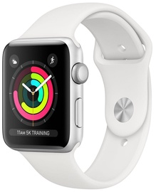 Išmanusis laikrodis Apple Watch Series 3 42mm GPS Aluminium Silver/White Band