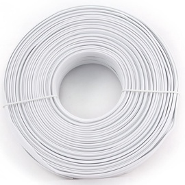 Gembird flat telephone cable stranded 6-wire White 100m