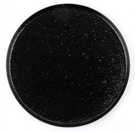 Porland Black Moss Dinner Plate D27cm Black
