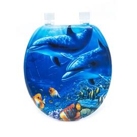 Tualetes poda vāks Thema Lux S767, zils ar mīkstu pārklājumu