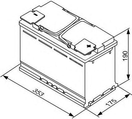 Аккумулятор Bosch S5, 12 В, 100 Ач, 830 а
