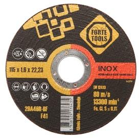 Lõikeketas Forte Tools 115x1,6x22,23 mm, Inox