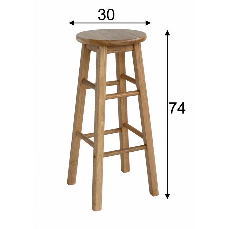 Барный стул Home4you Promo D30x74cm Brown