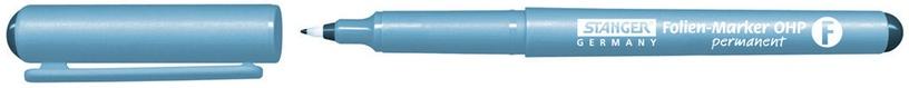 Noturīgs marķieris Stanger Foilen Marker OHP Permanent 0.6mm 10pcs Black 710010