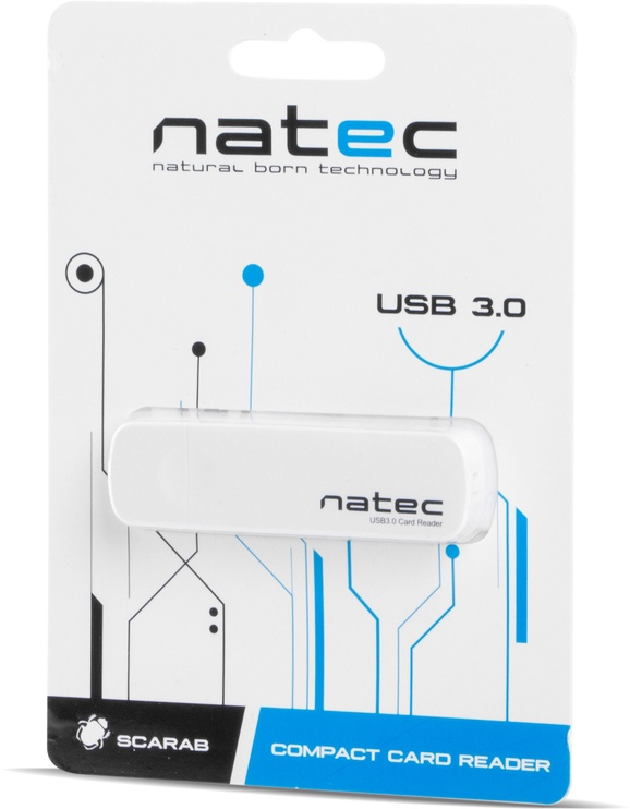 Natec SCARAB Mini Card Reader USB 3.0 White