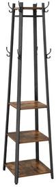 Songmics Clothes Hanger Brown/Black 43x43x180cm