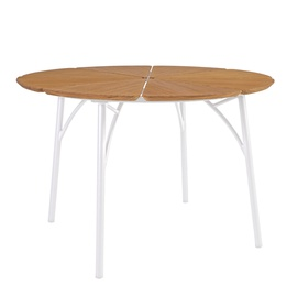 Home4you Greenwood Garden Table 110x72.5cm White