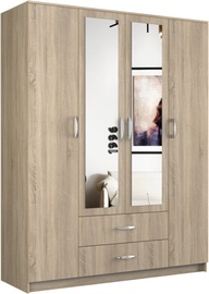 Top E Shop Romana Wardrobe With Mirror Sonoma Oak 160x205cm