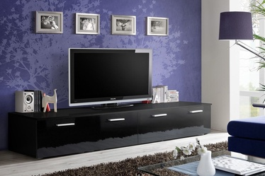 TV galds ASM Duo, melna, 2000x450x350 mm