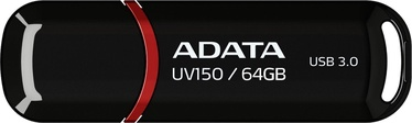 USB mälupulk ADATA UV150 Black, USB 3.0, 64 GB