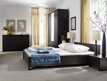 Black Red White Bedroom Set Kaspian Wenge