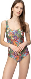 Audimas Womens Printed One Piece Swimsuit Wild Berries 38