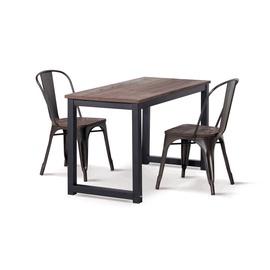 Valgomojo stalas, mediniu stalviršiu, 120 x 60 x 75 cm