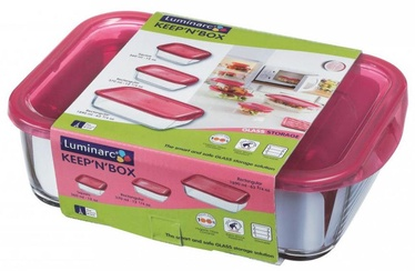 Luminarc Keep n Food Container With Pink Lid 3pcs