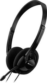 Ausinės Canyon CNE-CHS01B Easy Communication Headset Black