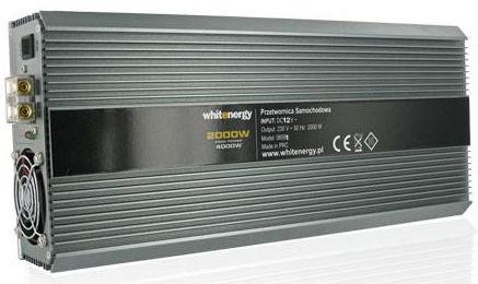 Whitenergy Receptacle Power Inverter 12V DC To 230V AC 2000W