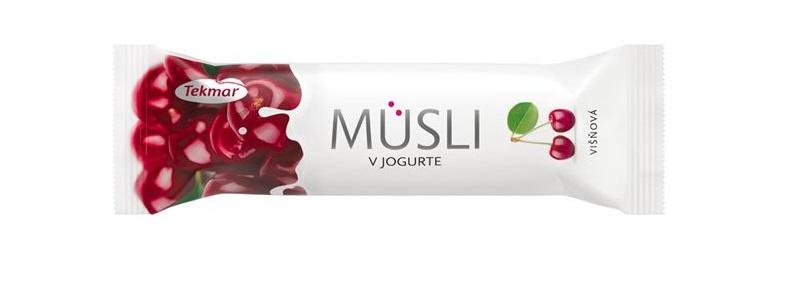 Javainis Musli su vyšniomis ir jogurtiniu glaistu, 30 g.