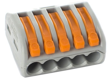 Laidų jungės CMK415, 5 x 0,08-4 mm², 5 vnt.