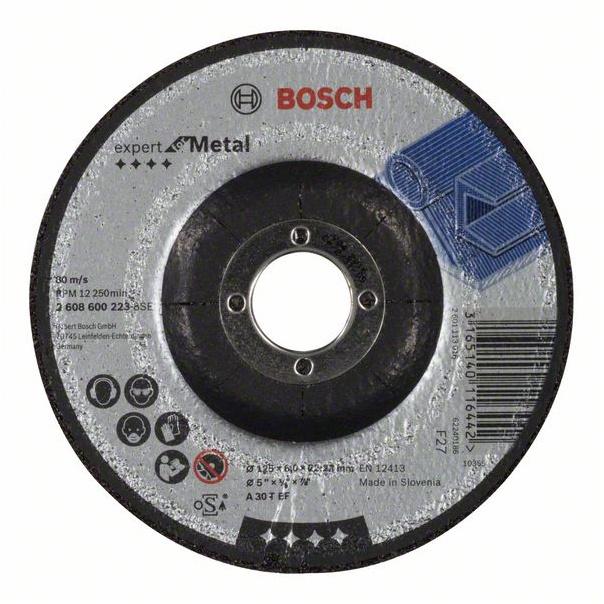 Šlifavimo diskas Bosch A30 T BF, 125x22.23 mm