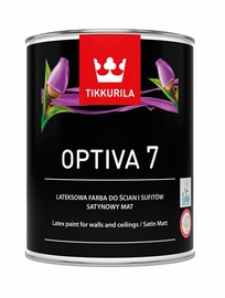 Tikkurila Optiva Satin Matt 7 BA 0.9l White