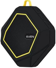 Belaidė kolonėlė Sven PS-77 Bluetooth, juoda/geltona