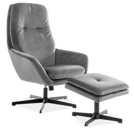 Atzveltnes krēsls Signal Meble Ford Velvet Grey, 75x82x108 cm