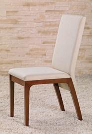 Svetainės kėdė (medinė) FABRIZIO cherry, dramblio kaulo spalvos