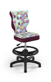 Vaikiška kėdė Entelo Petit ST32, juoda/įvairių spalvų, 370x350x950 mm