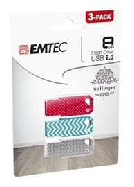 Emtec Wallpaper M750 8GB USB 2.0 Pack 3