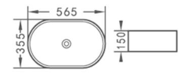 Praustuvas ACB8183, 56,5 x 35,5 x 15 cm