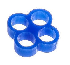 E22 Stealth Cable Comb 4 Slots 4mm Blue