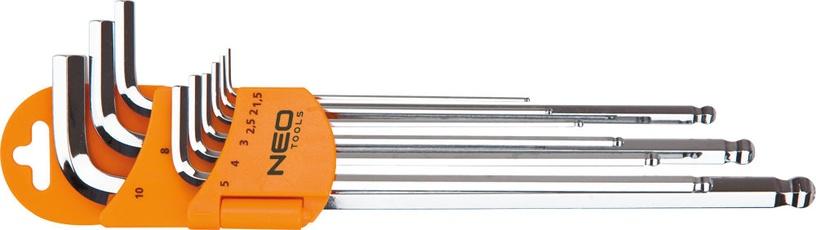 NEO 09-525 Hex Key Set 9pcs