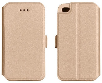 Telone Shine Book Case For LG K7 X210 Gold